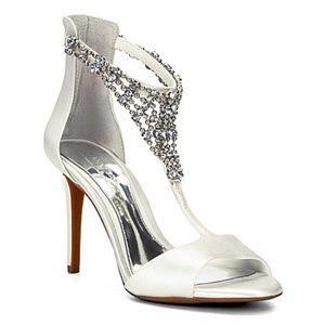 GIANNI BINI Gracelynn Wedding Bling Heels 10